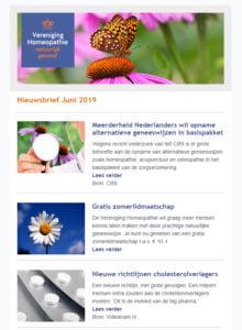 Nieuwsbrief Vereniging Homeopathie