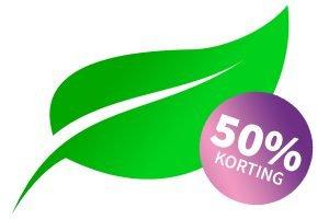 50% op een bezoek aan een homeopaat