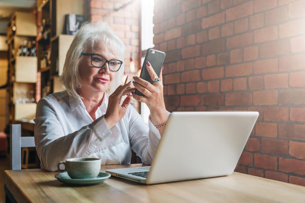 Vrouw met pensioen