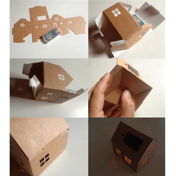 casagami-huisje op zonne-energie